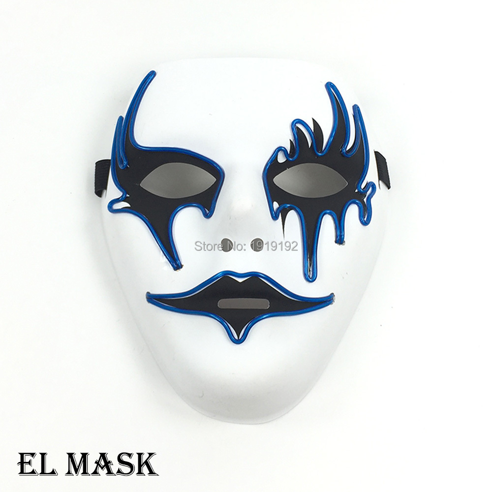 Free shipping LED Masks el wire mask 10 Colors Select Plastic ...