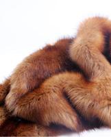 wholesale Brown 50*180CM thick imitation fox plush   fabric   / performance suits faux hunter field apparel animal wool   fabrics   B343