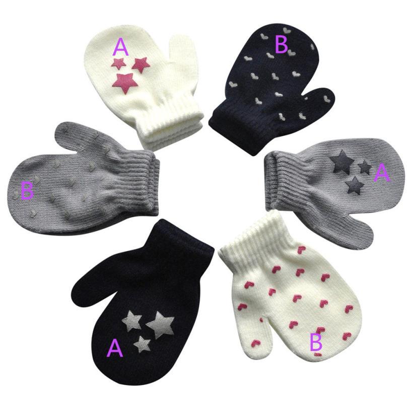 Analytical New Baby Mittens Winter Gloves Cute Cartoon Thicken Hot Infant Baby Handschoenen Girls Boys Of Winter Warm Baby Gloves Mother & Kids