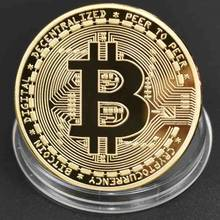 8 different Cryptocurrency Bitcoin Coin Bit Coin Ripple Litecoin Ethereum Metal Physical Coin With Plastic Case(China)