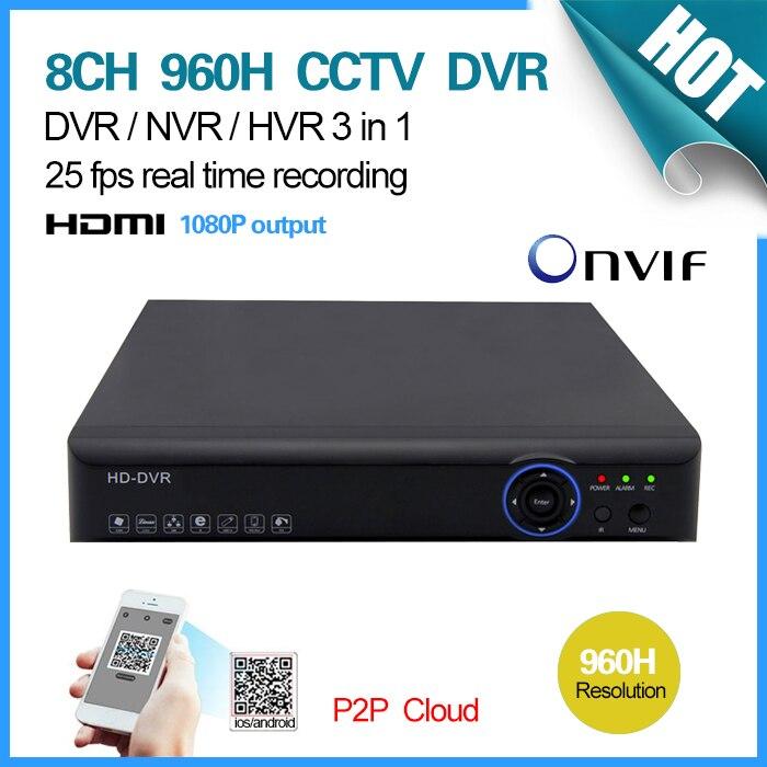 ФОТО Security CCTV DVR 8 Channel 960H 25fps realtime recording digital video recorder HDMI Wifi DVR NVR SK-002