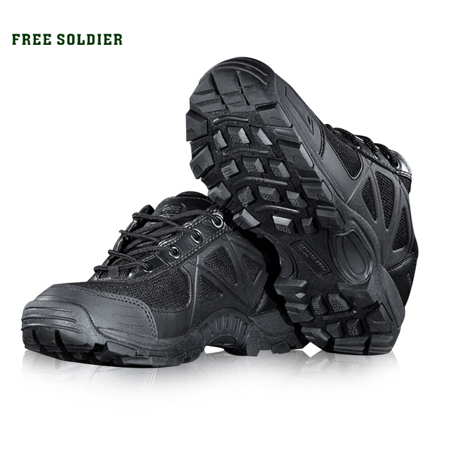 FREE SOLDIER Outdoor Sports Camping Hiking Tactical Military Men's shoes Mountain Non-slip Breathable Boots for Climbing