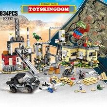 Военная игра PUBG moc атомная электростанция гидро электростанция, кирпичи, строительные блоки, армейские фигурки, оружие, блоки для оружия, игрушки