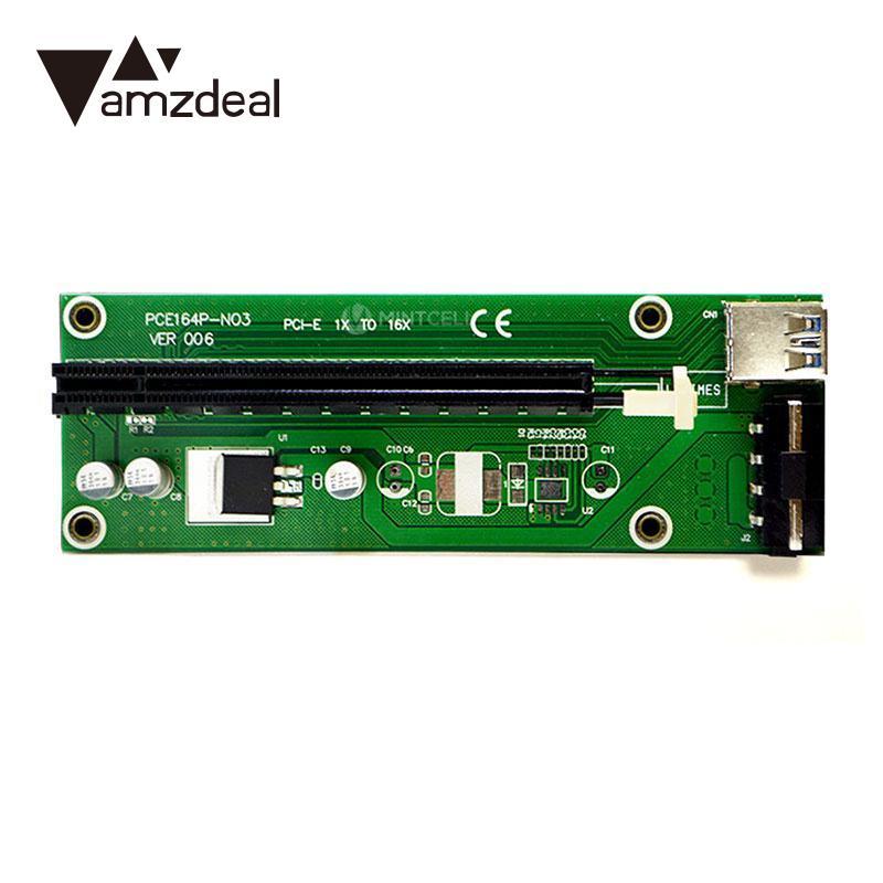 Amzdeal 62 см PCIe Express pci-e видео карты 1x к 16x USB 3.0 адаптер смолы анти горения линии расширения Расширительные платы