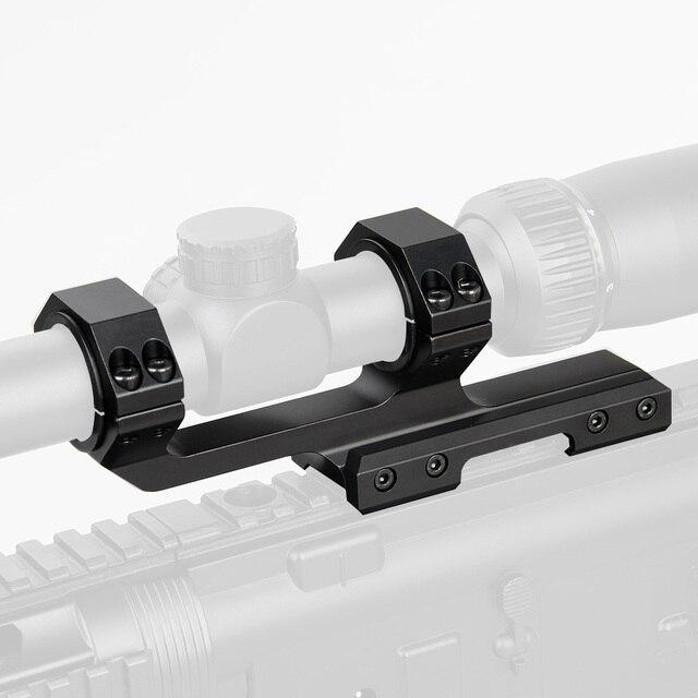 PPT New Arrival Dual Ring Rifle Scope Mount Black 6063 Aluminum Diameter 25.4-30mm For Picatinny Rail PP24-0201