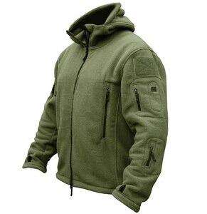 Image 3 - Ons Militaire Fleece Tactische Jas Mannen Thermische Buiten Polartec Warm Hooded Jas Militar Softshell Hike Bovenkleding Leger Jassen
