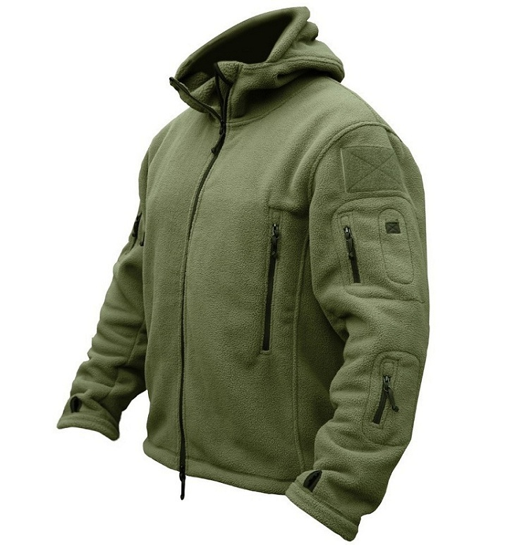 US Military Fleece Tactical Jacket Herre Thermal Outdoors Polartec - Herretøj - Foto 4