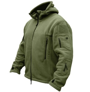 Image 3 - US Military Fleece Tactical Jacket Men Thermal Outdoors Polartec Warm Hooded Coat Militar Softshell Hike Outerwear Army Jackets