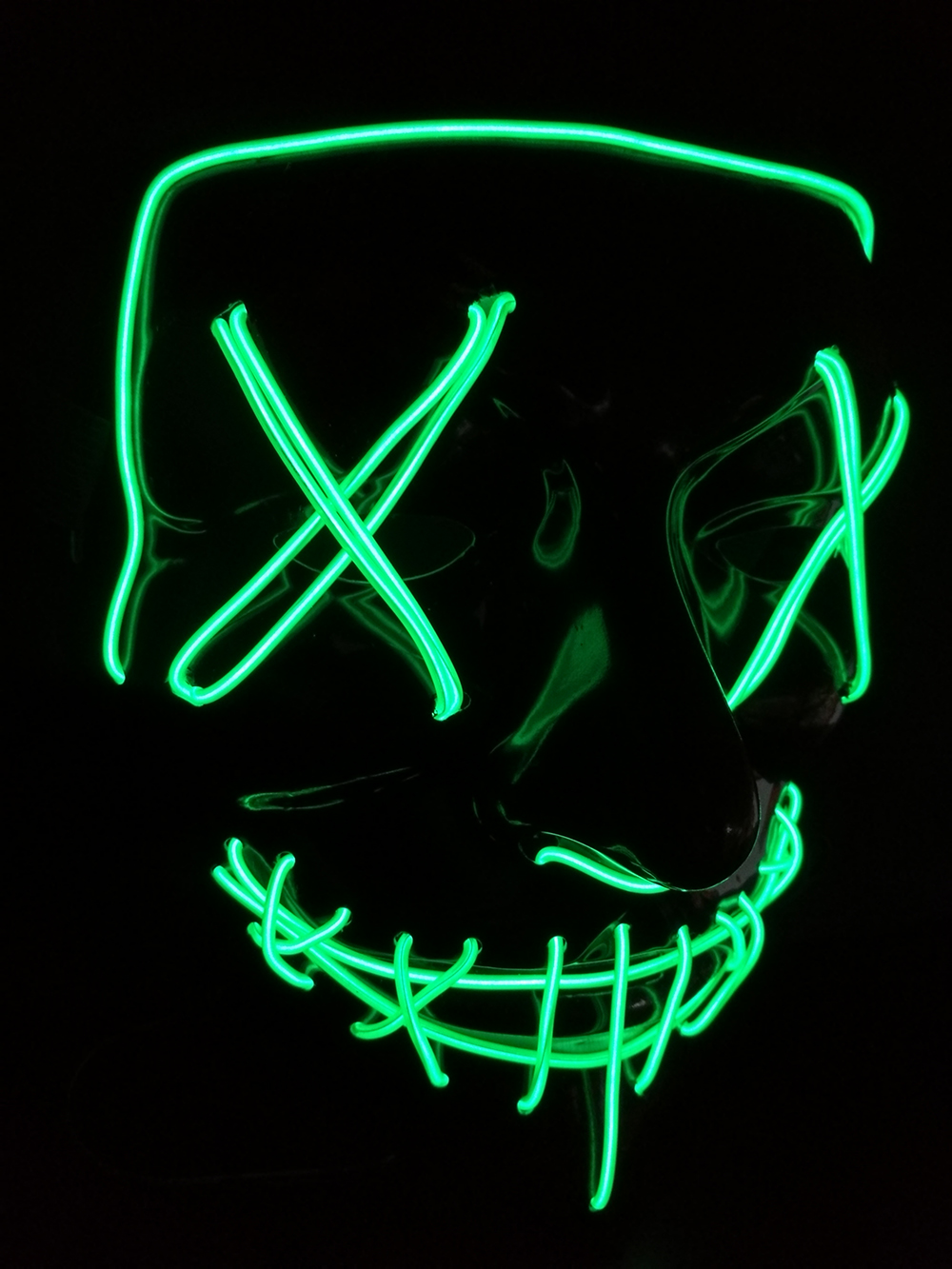 Halloween Mask Futuristic Led Light Up Glow In The Dark