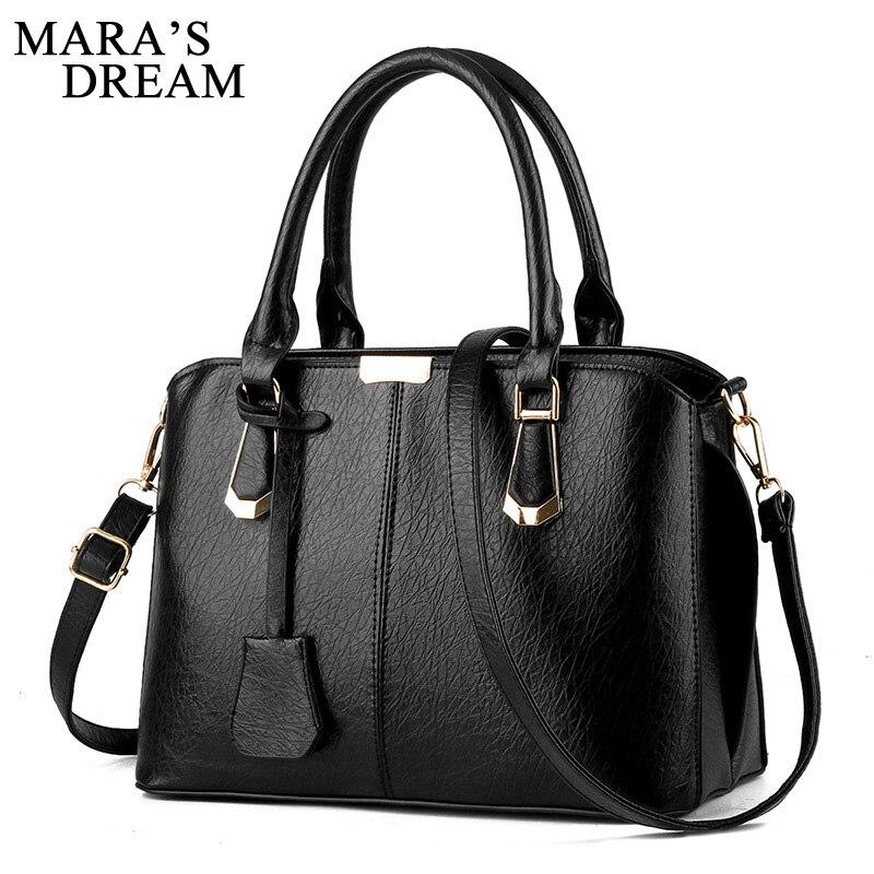 Mara's Dream 2018 Women Leather Handbags Hot Medium Shoulder Bags Luxury Women Messenger Bag Female Tote Women Handbag Bolsa zipit сумка medium shoulder bag
