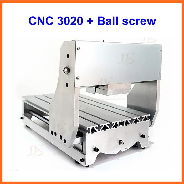mini lathe bed frame cnc engraving machine diy 3020 aluminum alloy ball screwchina