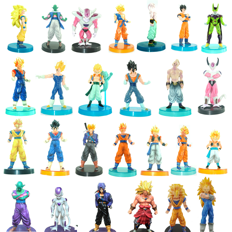 1pc/lot Dragon Ball Toys 26 Styles Dragon Ball Figures Goku/Vegeta/Frieza/Vegetto Kids Toys PVC Action Figures Gifts 12cm 12pcs set children kids toys gift mini figures toys little pet animal cat dog lps action figures