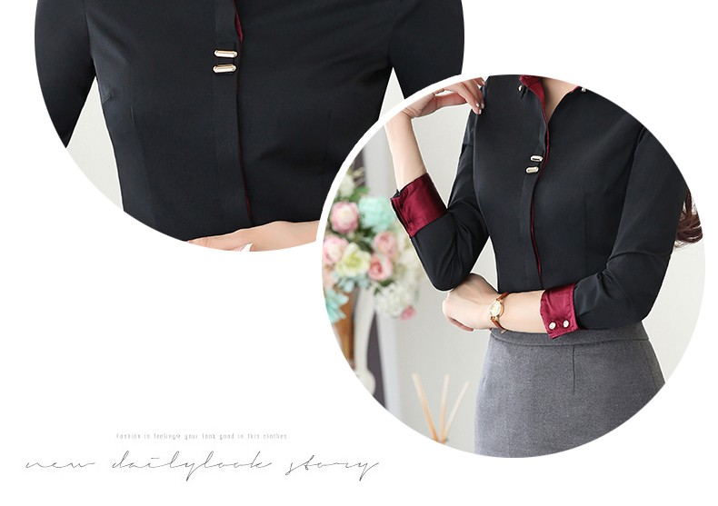 HTB1r47rLXXXXXXXXFXXq6xXFXXXr - Long sleeve shirt black white slim cotton blouse office ladies
