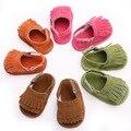 Nueva Moda Infantil Del Niño Del Bebé Ocasional Mocasines Soft Moccs Zapatos Calzado de Verano Cuna Bebe Zapatos Marginales Para Recién Nacido 0-1 Años