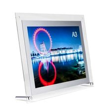 (Pack/5units) A3 Table Top Perspex Acrylic Poster Frames,Plastic Sign Display Prints(China)