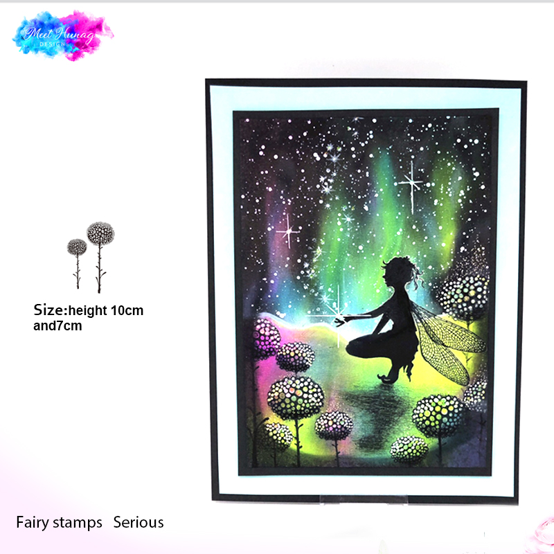 fairy glow flowers Clear Stamp for Scrapbooking Transparent Silicone Rubber DIY Photo Album Decor