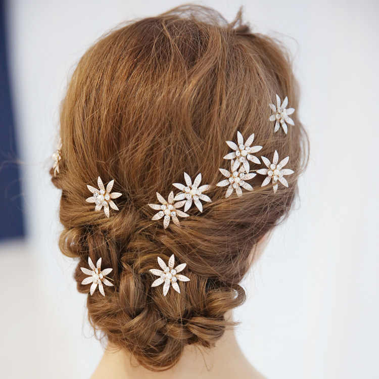 6bf29a542 ... 3pcs set Women Hair Clip Floral With Rhinestone Hair Pins Wedding Hair  Jewelry Girls Hairpin Stick ...