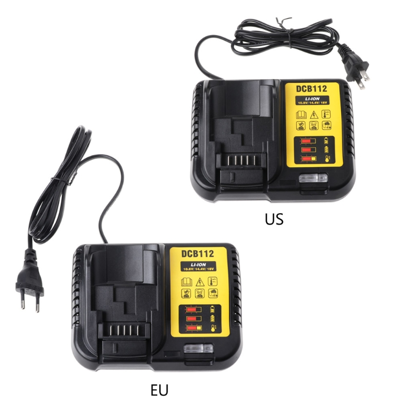 DCB112 Li-ion Battery Charger Replacement For Dewalt 10.8V 14.4V 18V US/EU Plug-m18