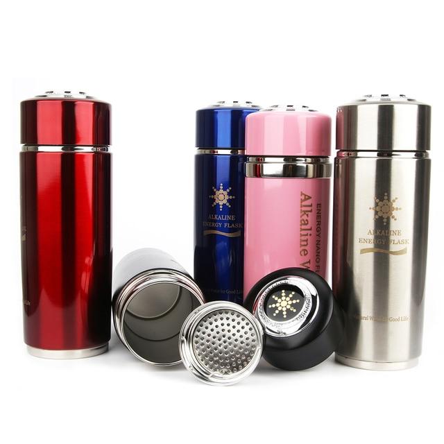 Stainless Steel Hydrogen Generator Ionizer Alkaline Water Bottle For