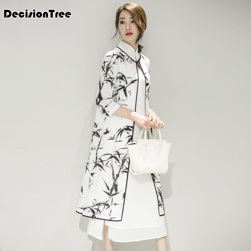2019 Yaz Kadın Saten Cheongsam Akşam Elbise çin Oryantal Elbiseler