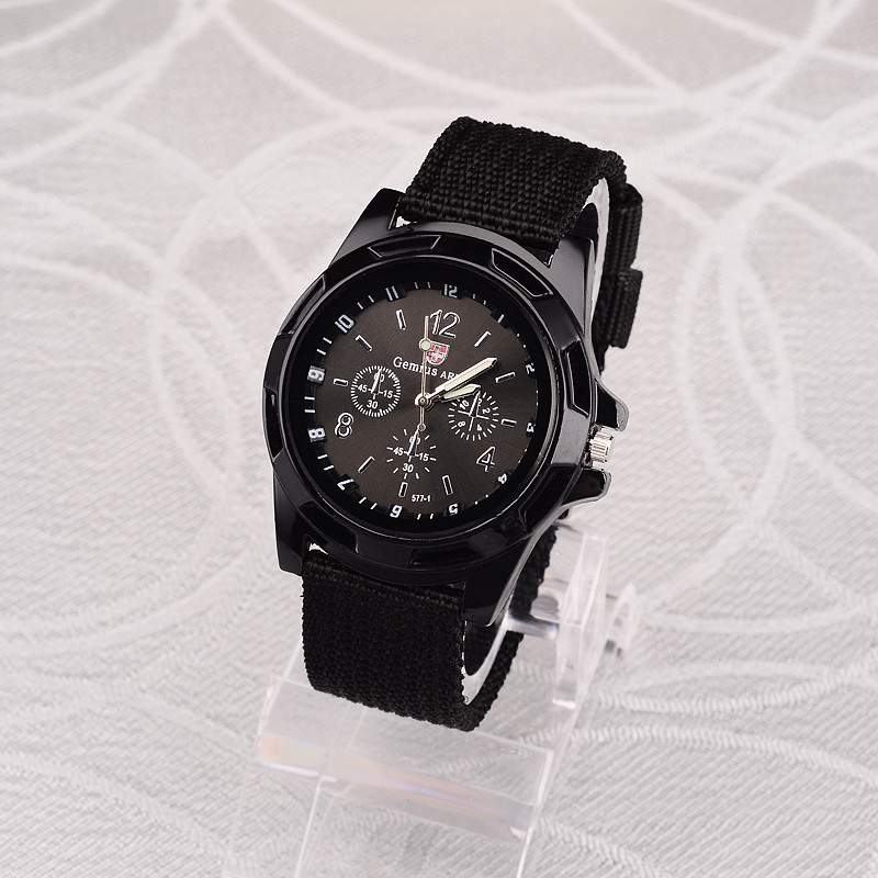 Military-Watch Army-Clocks Switzerland Stylish Luxury Brand Nylon Quartz Reloj Hombre title=