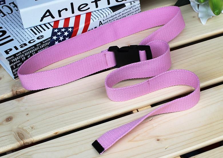 Женский ремень Харадзюку, красный, с буквенным принтом, модный, унисекс, двойное d-образное кольцо, Холщовый ремень, женские длинные ремни для джинсов - Цвет: Style 2 Pink
