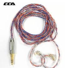 CCA C2 8 Core Arancione Blu Braded Argento CableUpgraded Placcato Cavo del Trasduttore Auricolare Aggiornamento per KB10 KB06 A10 C10 CA4 KZ AS16 AS10 AS12