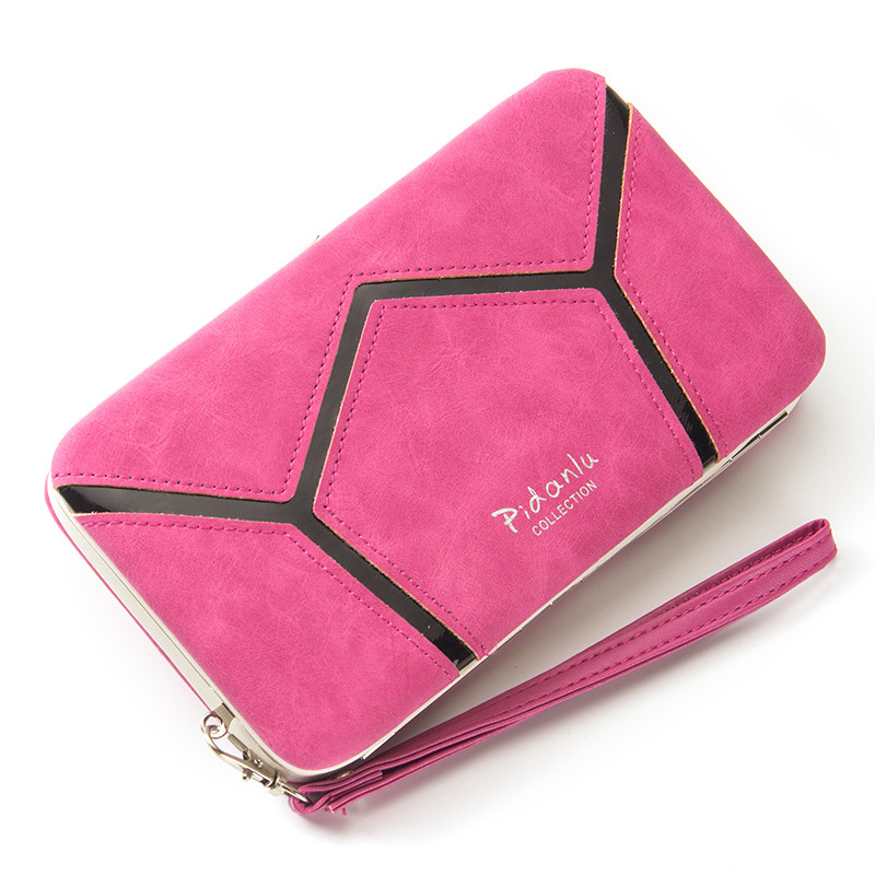 Fashion 2016 New Geometric Plaid Ladies Wallet and Purse Lunch Box lock Wallet Big Capacity Portefeuille Femme Carteira Mulheres