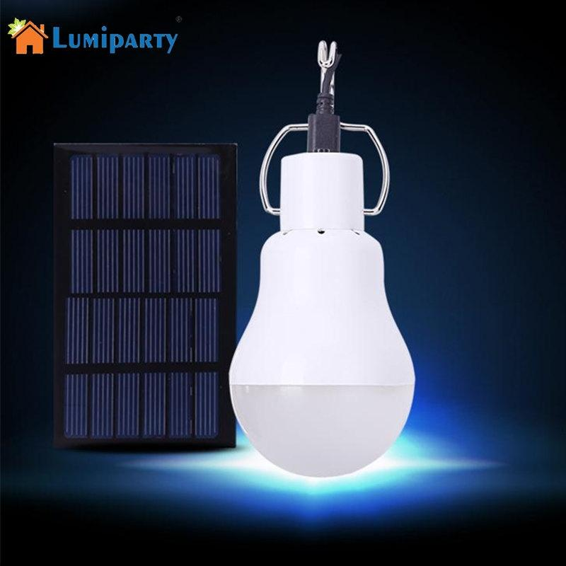 LED Solar lamp 15w 130lm No flicker Solar Energy saving bulb lamp for Camping Tent Fishing Courtyard Emergency lighting cheaper hot sell solar energy small lighting system emergency lighting for camping boat yacht free shipping