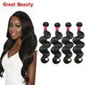 8A Unprocessed Malaysian Virgin Hair Body Wave 4 Bundles Cheap Malaysian Body Wave Hair 100% Human Hair Weave Alibarbara Hair
