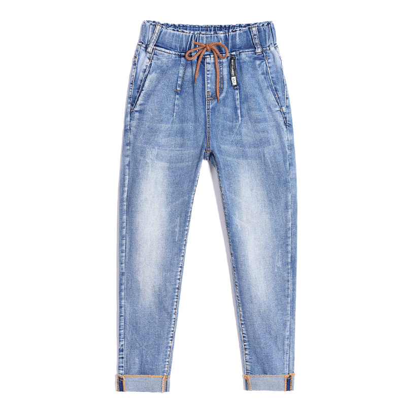 new special design elastic boyfriend for women jeans woman plus size loose jeans high waist stretch denim haren pants femme