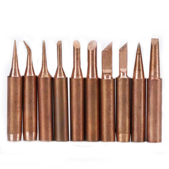 1SET Copper 900M Soldering Iron Tip For Hakko 936 Soldering Rework Station Soldering Tips