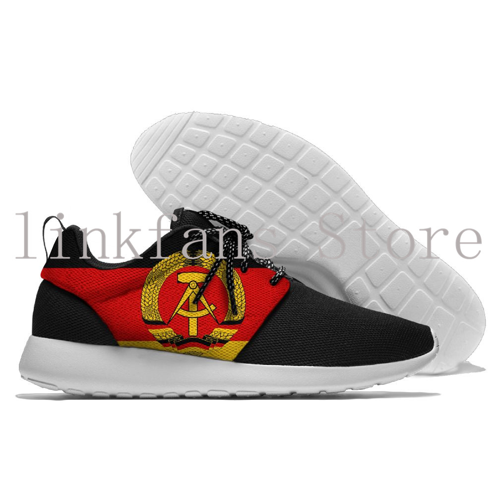Men and Women BreathableCoat of arms of East Germany Sneakers Shose Sport Slip On Walking Jogging Shoes Gym Shoes Cheap Trainers