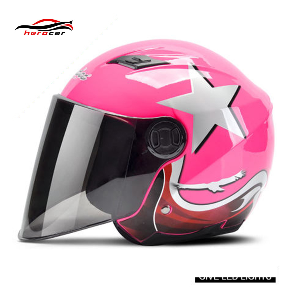 Motorcycle Helmet 3/4 Open Face Helmet Scooter Motorbike Capacete Casco Moto Modular Flip Up Helmet With Lens LED Light Casque
