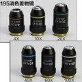 4X 10X 20X 40X 60X 100X 195 биомикроскоп Биологический Микроскоп лабораторный ахроматический объектив