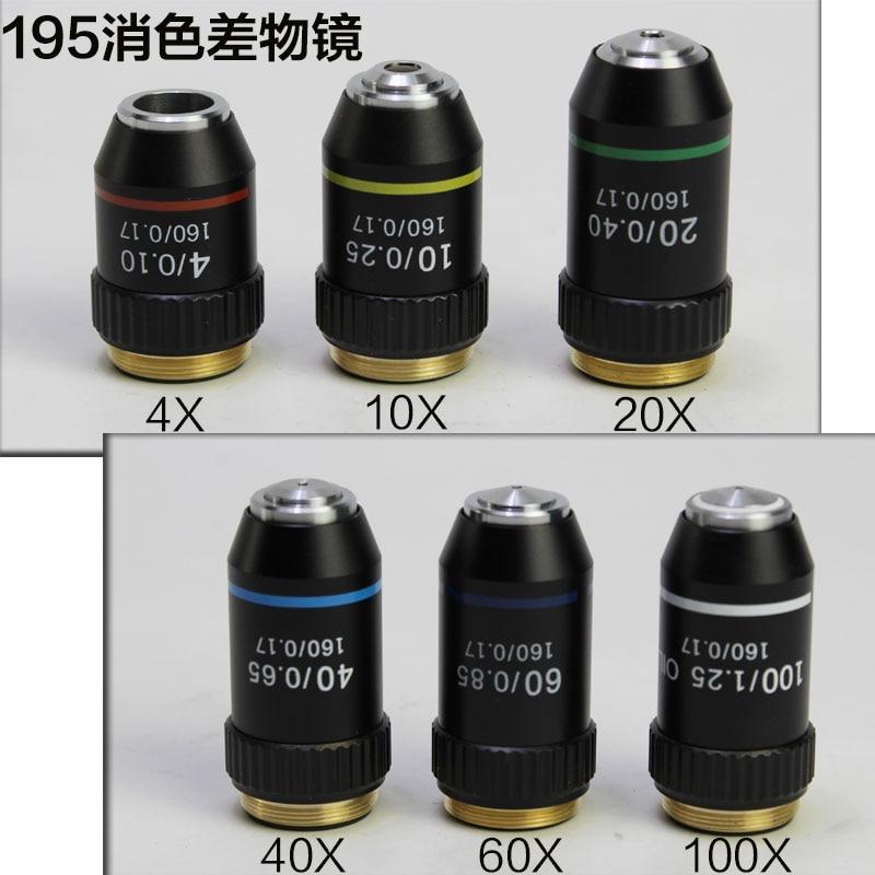 4X 10X 20X 40X 60X 100X 195 Biomicroscope System Bio-Microscope Biological Microscope Lab Laboratory Achromatic Objective Lens