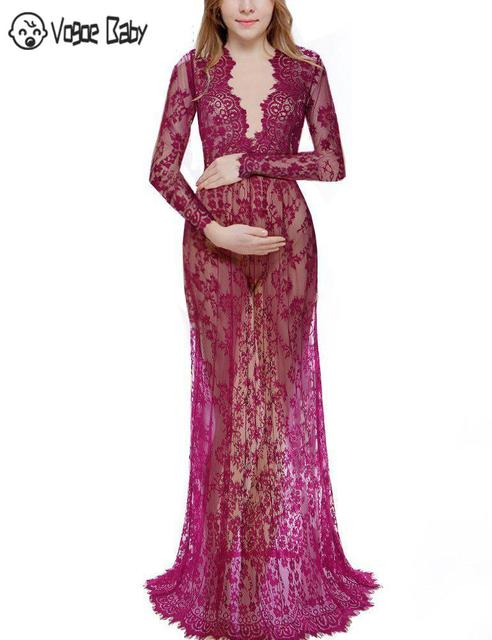 Maternity Gown Lace Dresses for Summer 3