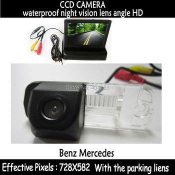 CCD car rear view camera with monitor in Rear View Camera for Benz C-Class W203 E-Class W211 CLS-Class 300 W219 R350 R500 ML350