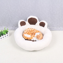 Warm And Comfortable Paw Dog Cat Kennel Cute Dog Cushion Washable Cat Litter Dog Bed Teddy Kennel Soft Plush Pet Beds