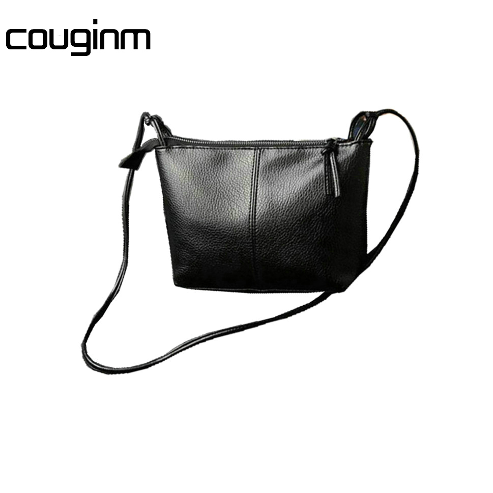COUGINM New Fashion Casual Shoulder Bags Cross-body Bag Small Vintage Women's Handbag PU Leather Women Messenger Bags dispalang mini small messenger bag 3d bat skull print cross body bags for boys borsa casual small men s travel shoulder bags