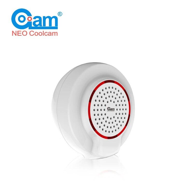 NEO COOLCAM NAS-AB01Z Z-vague Sans Fil Sirène D'alarme Capteur Compatible avec Z vague Plus Capteur D'alarme Domotique Alarme