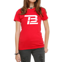Womens Tom Brady TB12 Logo Grafico T-Shirt da Donna Tee