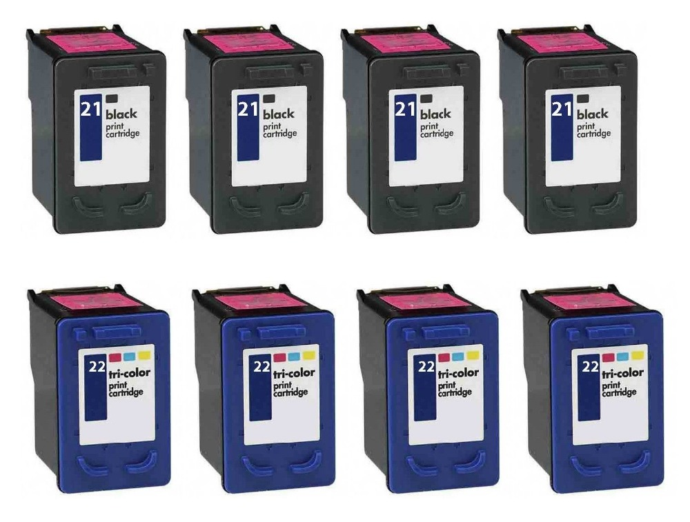 2017 New [Hisaint] 8pk 21 22 Combo Ink Cartridge for HP DeskJet F380 OfficeJet 4300 4310 4315 xi v