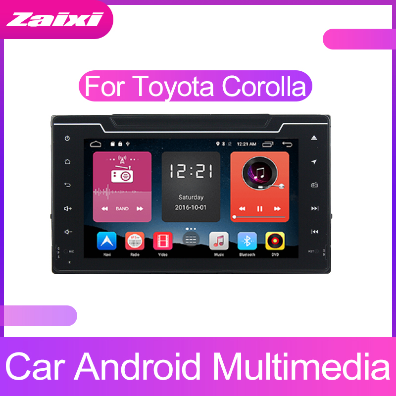 ZaiXi Touch screen Android car Audio for Toyota Corolla 2016~2019 support GPS navi Ipod BT radio mic Media Navigation system