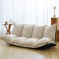 Льняная ткань обивка регулируемый пол диван кровать диван кровать для гостиной пол ленивый человек диван мебель для гостиной Видео игровой