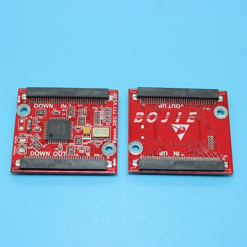 Calidad Superior dx7 decodificador/tarjeta de descifrado para Epson dx7 primero bloqueado cabezal de impresión