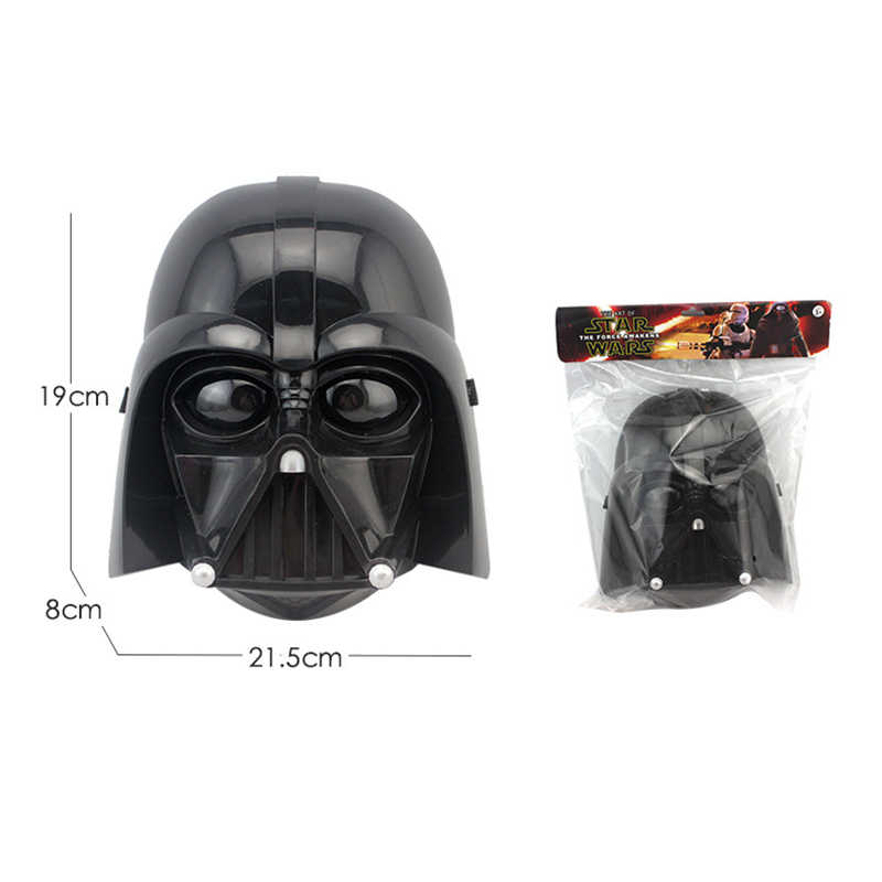 2 Pcs/lot Halloween Partai Cosplay LED Stormtrooper Darth Vader Masker Star Wars Kostum Masquerade