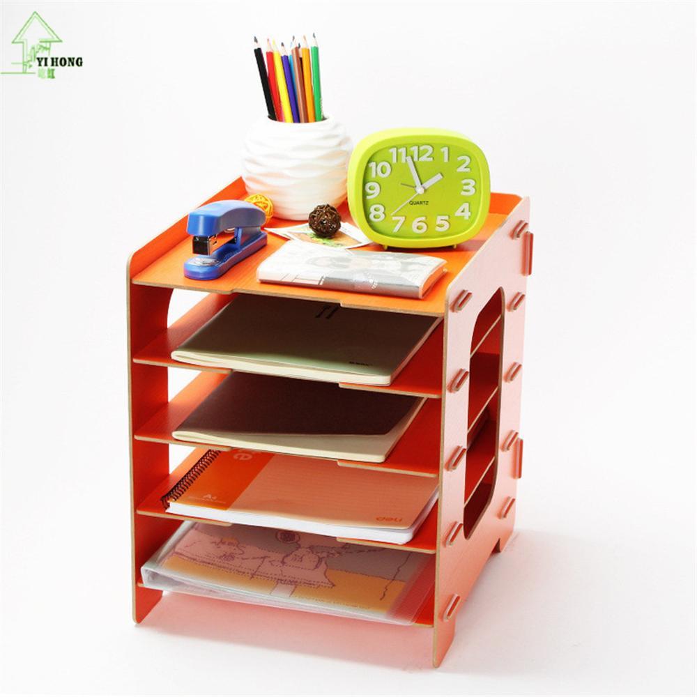 YIHONG bricolage supports de rangement en bois étagères décoratives meubles articles divers boîtes de rangement de bijoux livre magazines supports d'admission maison - 4