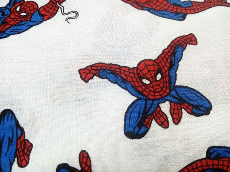 Spiderman tela telas de sarga de algodón para patchwork diy textiles para el hog