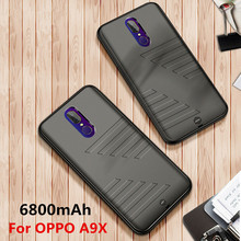 6800mAh Ultra-Thin Portable Mobile Power Charger Cover for OPPO A9X Power Supply Box Rechargeable Battery Charger Housing
